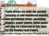 scout paper drive