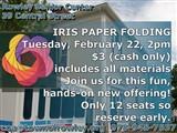 coa@townofrowley.org  978-948-7637; Rowley Senior Center  39 Central Street; iris foldingIRIS PAPER...