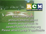 Email non-profit announcements to  Janet@TownOfRowley.org