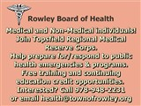 Rowley Board of Health notice